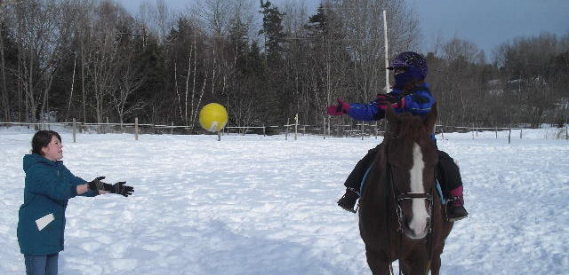 Therapeutic Riding in Winter