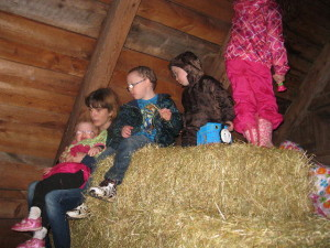 Hay Bale climbing with help